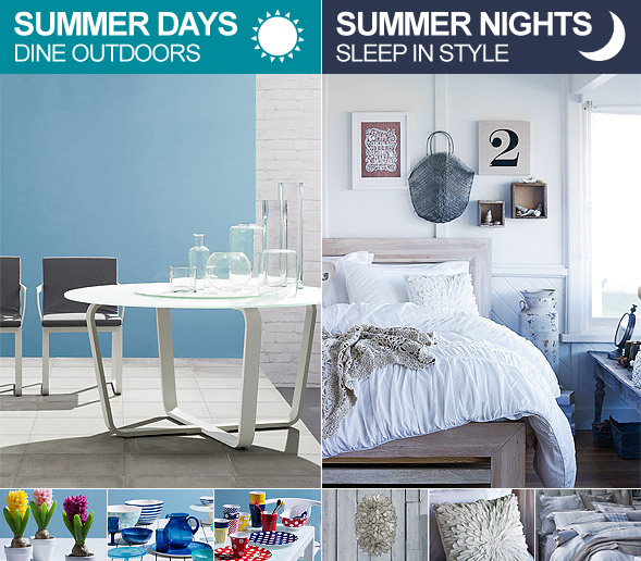 Summer Days Dine Outdoors and Summer nights sleep in style